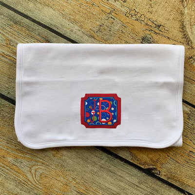 Applique Square with Name Burp Cloth