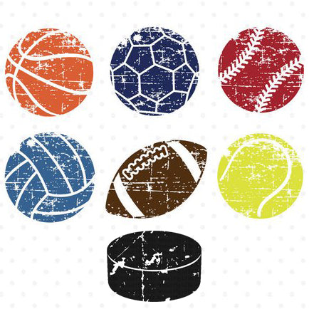 Sports Ball Options for Distressed Tee