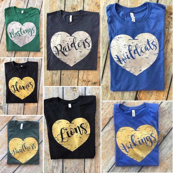 Distress Heart Tee Collection