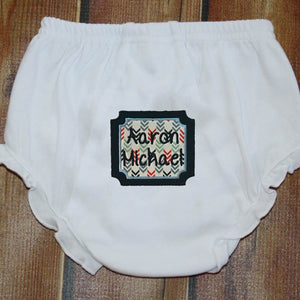 Applique Square with Name/Monogram Ruffle Bloomers