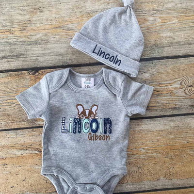 Applique Puppy Baby Bodysuit
