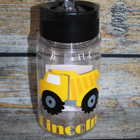 Dump Truck Kids Water Bottle