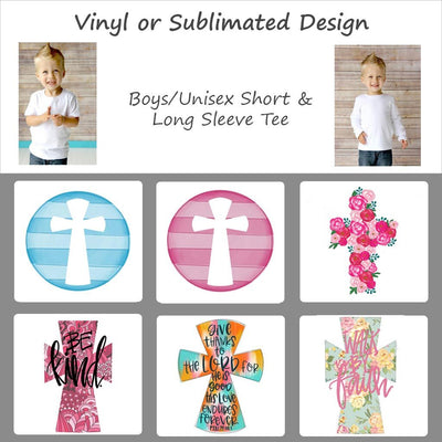 Easter Cross Designs - Boys/Unisex Tee