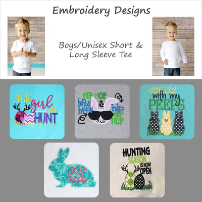 Embroidered Easter Designs - Boys/Unisex Tee