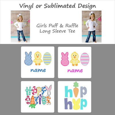 Easter Designs - Girls Long Sleeve Tee