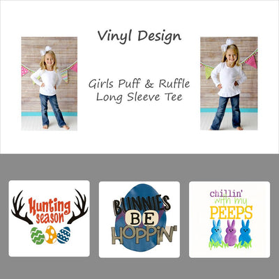 Vinyl Easter Designs - Girls Long Sleeve Tee