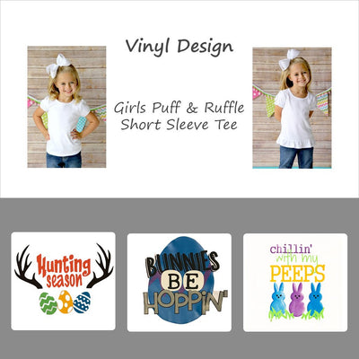 Vinyl Easter Designs - Girls Short Sleeve Tee