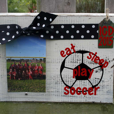 Eat, Sleep, Play Soccer Frame