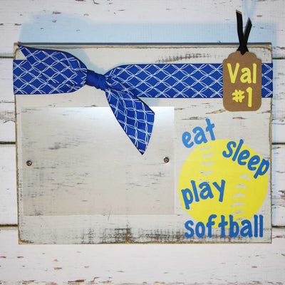 Eat, Sleep, Play Softball Frame