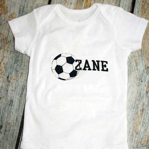 Embroidered Sports Ball and Name Bodysuit