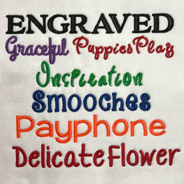 Embroidery Font Chart 3