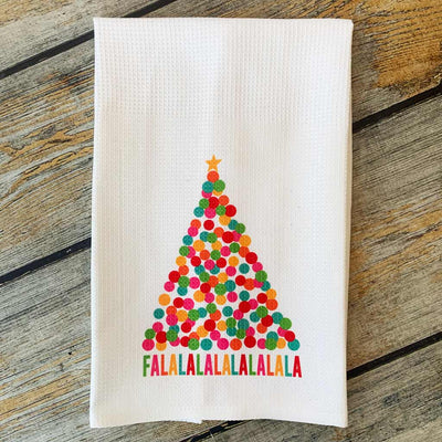 Sublimated FaLaLaLa Hand Towel