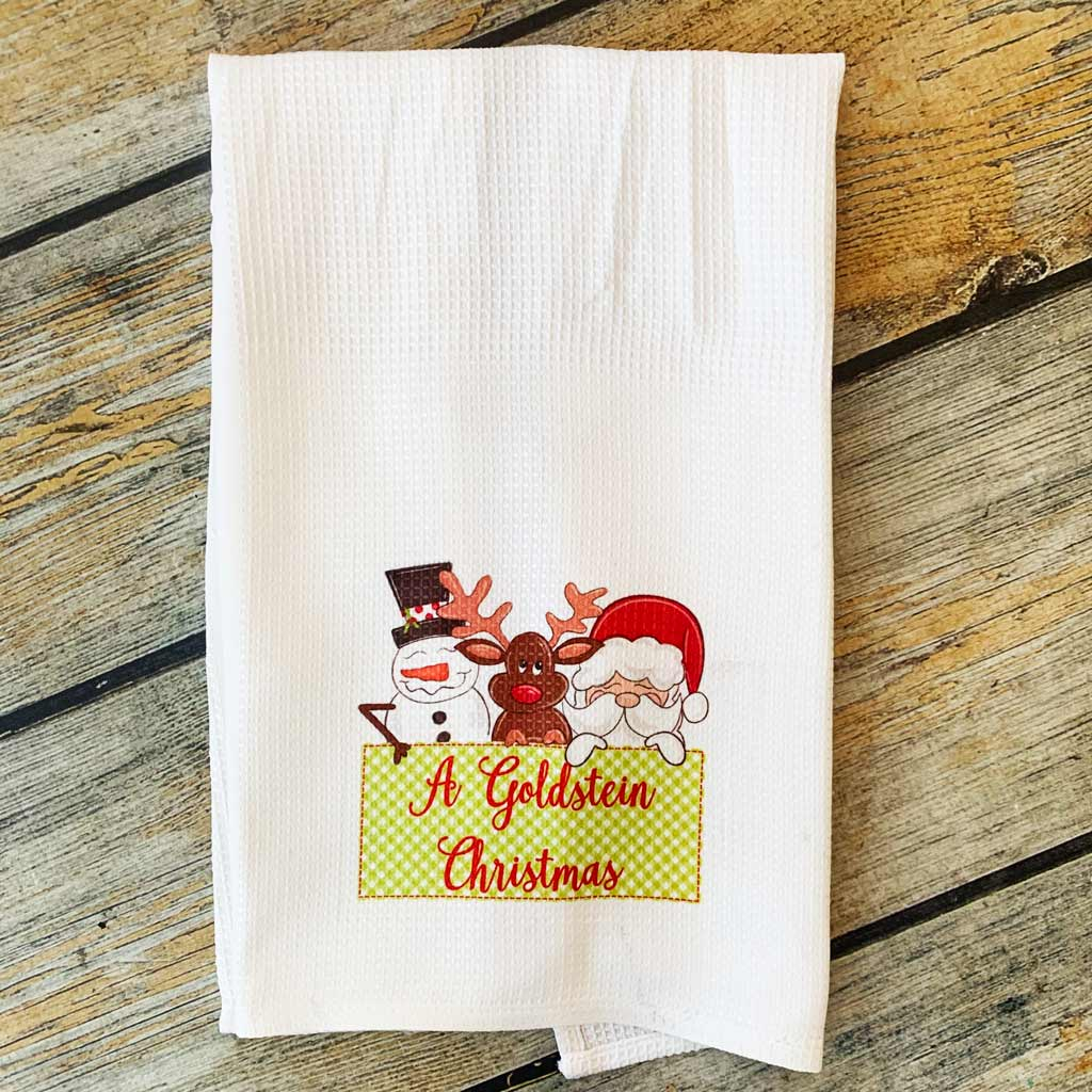 Sublimated Family Christmas Hand Towel