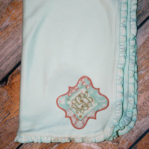 Applique with Name/Monogram Baby Blanket
