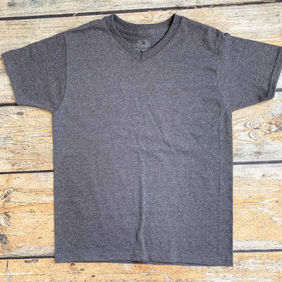 Personalized Youth Short Sleeve VNeck Tee - Dark Grey Heather