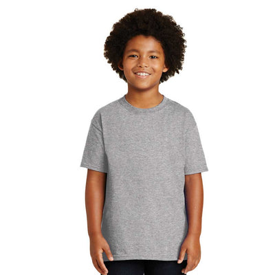 Personalized Youth Short Sleeve Tee - Dark Grey Heather