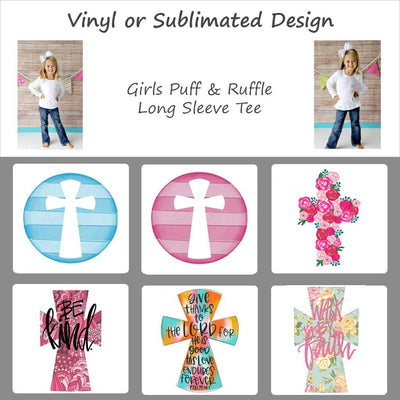 Easter Cross Designs - Girl's Long Sleeve Tee