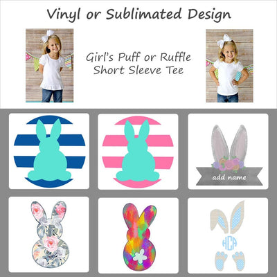Easter Bunny Designs - Girl's Short Sleeve Tee