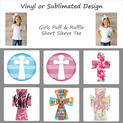 Easter Cross Designs - Girls Short Sleeve Tee