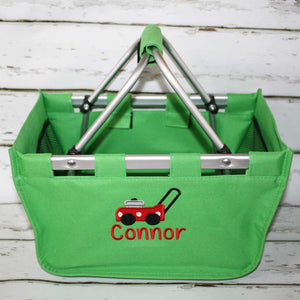Green Market Tote with Icon and Name