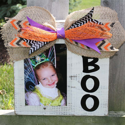 Halloween Custom Wood Block Picture Frame