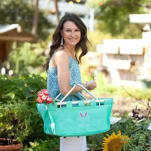 Embroidered Happy Easter Market Tote