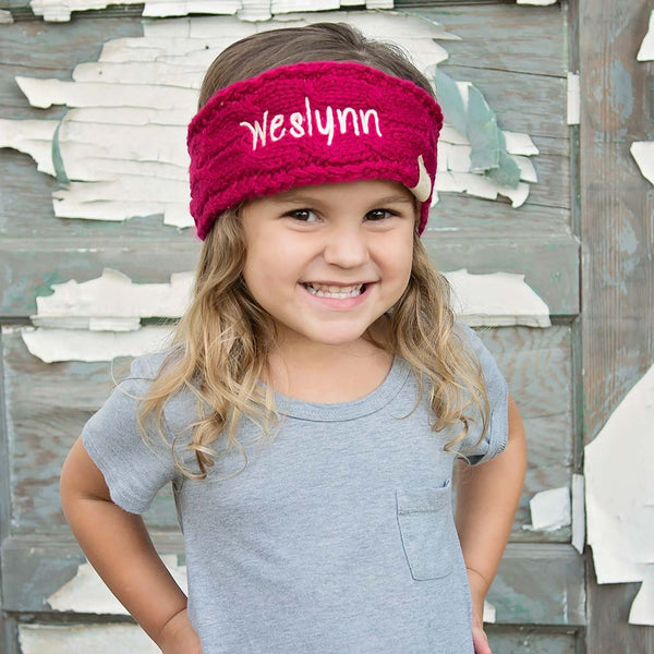 Embroidered Kids Head Wrap with Name