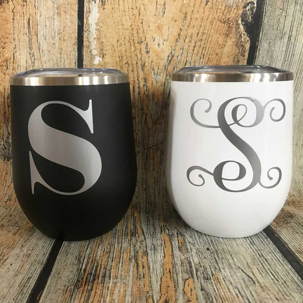 His and Hers Monogram Tumbler