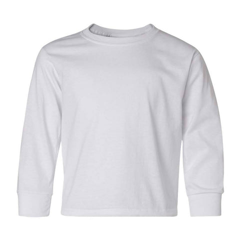 Personalized Youth Performance Long Sleeve Tee - White