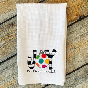 Sublimated Joy to the World Hand Towel
