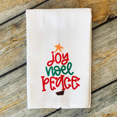 Sublimated Joy Noel Peace Hand Towel