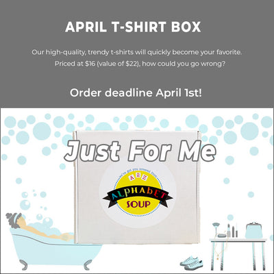 March Just For Me Tshirt Subscription Box