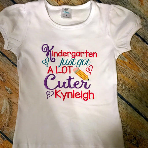 Kindergarten Just Got Cuter Design Tee