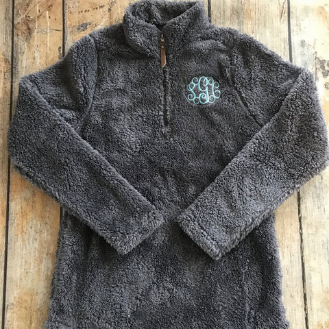 Ladies Monogrammed Sherpa