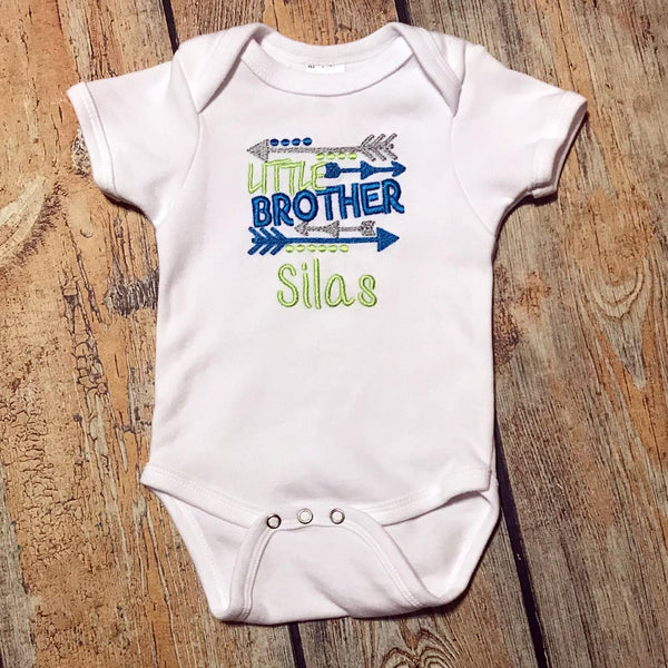 Little Brother Embroidered Bodysuit