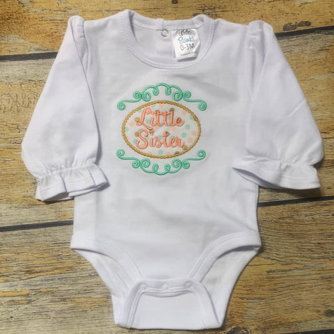 Little Sister Embroidered Bodysuit