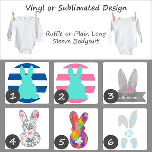Easter Bunny Designs - Long Sleeve Baby Bodysuit