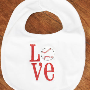 Love with Ball Baby Bib