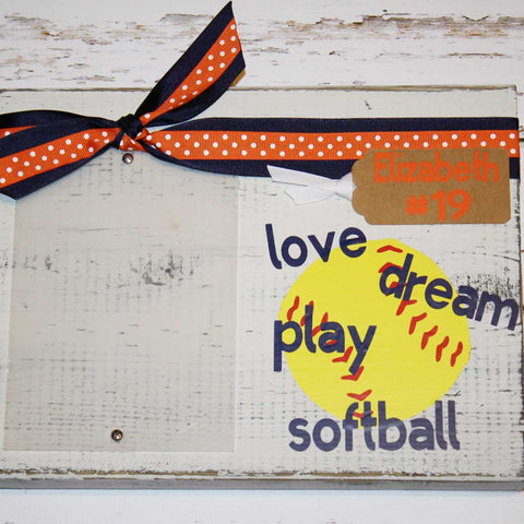 Love, Dream, Play Softball Frame