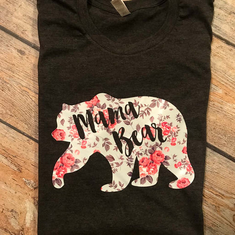 Mama Bear Vinyl Design Shirt
