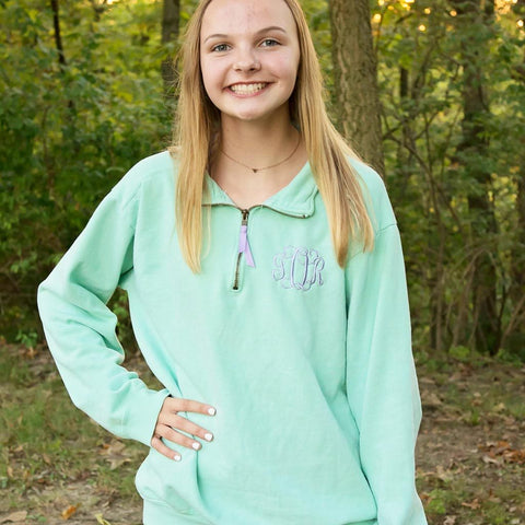 Embroidered Comfort Color 1/4 Zip Unisex Pullover