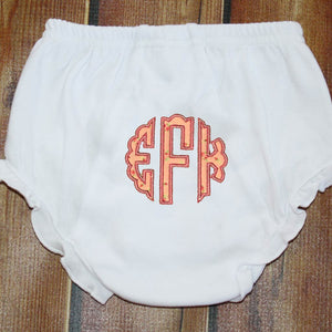 Applique Monogram Ruffle Bloomers