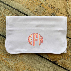 Applique Monogram Burp Cloth