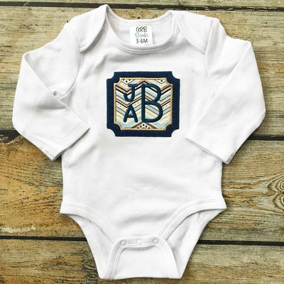 Embroidered Name/Monogram Bodysuit with Applique