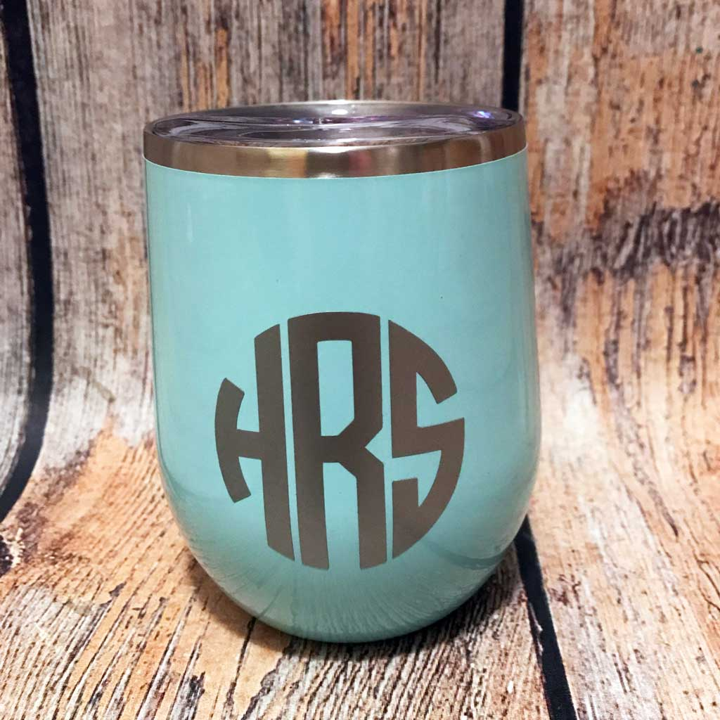 4f1fcec60aa Monogram Stainless Wine Tumbler – Alphabet Soup Designs