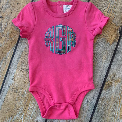 Applique Monogram Baby Bodysuit