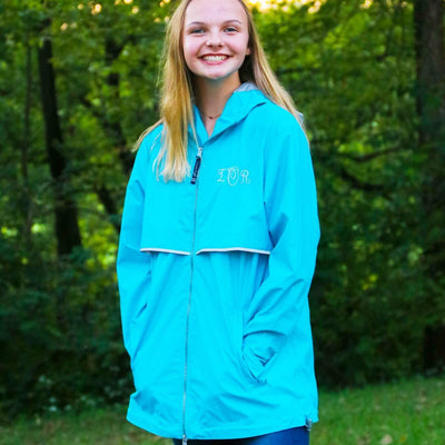 Women's New Englander Embroidered Monogram Rain Jacket