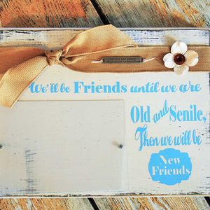 Old and Senile Friends Custom Wood Block Frame