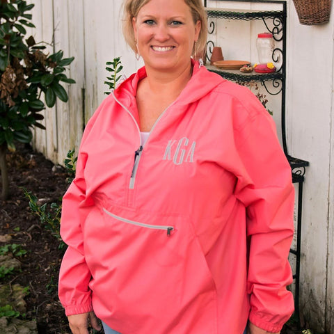Adult Pack-N-Go® Unlined Embroidered Monogram Pullover