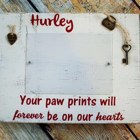 Paw Prints Custom Wood Block Frame